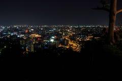 De stad van de nacht Royalty-vrije Stock Afbeeldingen