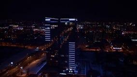 De stad van de nacht stock video