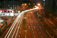 De stad van de nacht Stock Afbeelding
