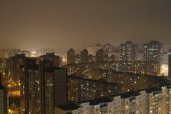 De stad van de nacht kiev Royalty-vrije Stock Foto