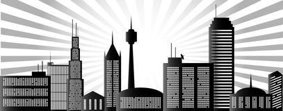 De stad van de ochtend vector illustratie
