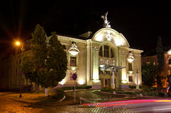 De stad van de Oekraïne van het Theater van het drama van Chernivtsi Royalty-vrije Stock Foto's