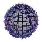 De stad van de planeet Royalty-vrije Stock Fotografie