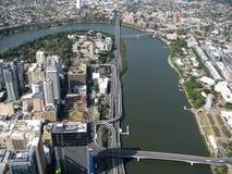 De Stad van de rivier stock foto
