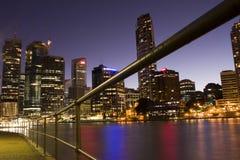 De Stad van de Rivier van Brisbane Royalty-vrije Stock Foto's