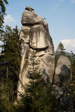 De stad van de rots, Rotsen Aderspach in de Tsjechische Republiek. Stock Afbeelding
