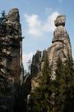 De stad van de rots, Rotsen Aderspach in de Tsjechische Republiek. Royalty-vrije Stock Afbeeldingen