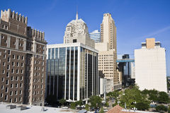 De stad in van de Stad van Oklahoma stock afbeelding