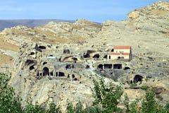 De stad van de steen in Upliscikhe stock foto's