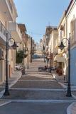 De stad van de straat van Sitia Stock Fotografie