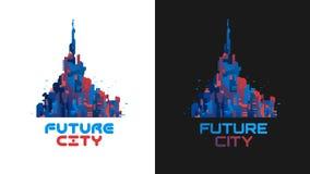 De stad van de toekomst Stock Foto