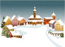 De stad van de winter royalty-vrije illustratie