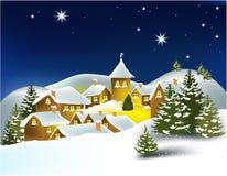 De stad van de winter Royalty-vrije Stock Afbeelding