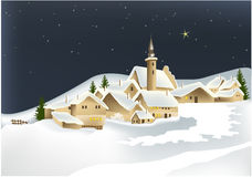 De stad van de winter stock illustratie