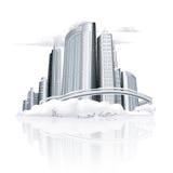 De stad van de winter Stock Afbeelding