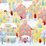 De stad van de winter Stock Afbeeldingen