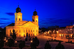 De stad van Debrecen, Hongarije Stock Foto
