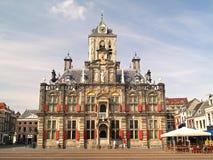 De stad van Delft townhall Royalty-vrije Stock Foto's