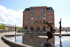De stad van Denemarken - van Kopenhagen royalty-vrije stock afbeelding