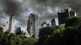 De stad van Destructed Stock Afbeelding