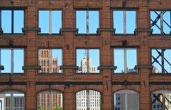 De Stad van Detroit stock foto's
