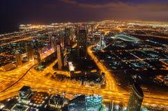 De stad in van Doubai (Verenigde Arabische Emiraten) Royalty-vrije Stock Afbeelding
