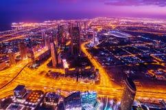 De stad in van Doubai (Verenigde Arabische Emiraten) Royalty-vrije Stock Foto