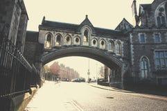 De stad in van Dublin in de ochtend Stock Foto
