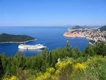 De stad van Dubrovnik Stock Afbeeldingen
