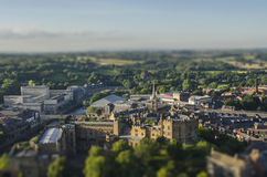 De stad van Durham scape Royalty-vrije Stock Afbeelding