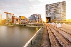 De stad van Dusseldorf in Duitsland stock afbeelding