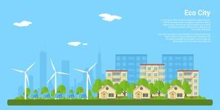 De stad van Eco Stock Afbeelding