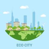 De stad van Eco Stock Foto's