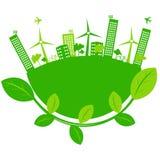 De stad van Eco Royalty-vrije Stock Afbeeldingen