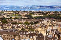 De Stad van Edinburgh, Schotland stock foto's