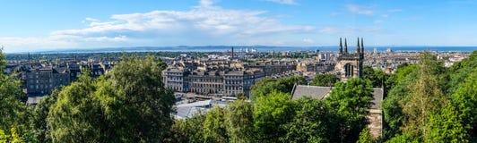 De Stad van Edinburgh, Schotland stock foto