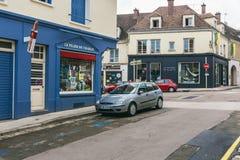 De stad in van een kleine Franse stad royalty-vrije stock foto's