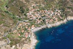 De stad van Elba eiland-Chiessi Stock Foto's