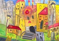 De stad van Fanny Vector Illustratie