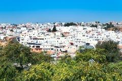 De stad van Faro in Portugal Stock Afbeeldingen