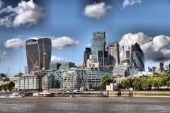 De Stad van de Financiële Sector van Londen ` s stock foto's