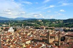 De stad van Florence vanaf de bovenkant van Duomo, Italië wordt gezien dat royalty-vrije stock afbeeldingen