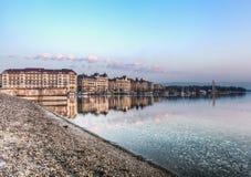 De Stad van Genève Stock Afbeelding