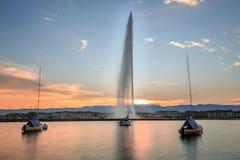 De stad van Genève Stock Foto