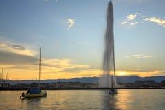 De stad van Genève Stock Fotografie