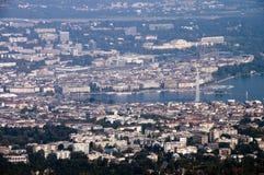 De stad van Genève in Zwitserland Stock Foto's