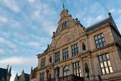 De stad van Gent in België stock foto's