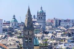 De stad van Genua, panorama Stock Foto's