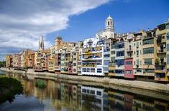De stad van Girona, Catalonië, Spanje Royalty-vrije Stock Foto's