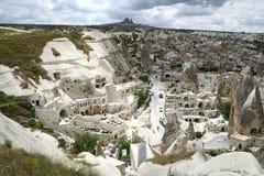 De stadslandschap van Cappadocian Stock Foto's